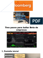 Beta - Acceso a Bloomberg