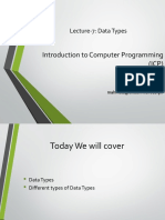 Lecture 7 Data Types 1