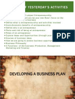 Developing a Business Plan With Addition
