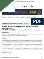 MARCA – REGISTRO DE LA PROPIEDAD INTELECTUAL (CNR EL SALVADOR)