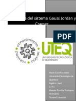 Gauss Jordán y Kramer