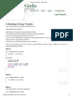 A Boolean Array Puzzle