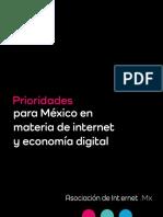 Prioridades para México en materia de Internet