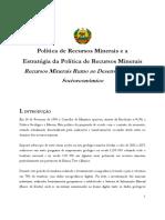 Politica e Estrategia de Recursos Minerais