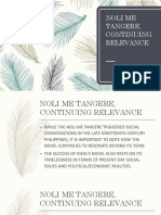 NOLI ME TANGERE, CONTINUING RELEVANCE.pptx