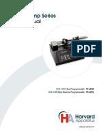 Harvard Apparatus, PHD 4400 Syringe Pump User Manual