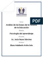 Analisis de as Bases de La Filisofia de La Educacion (Eliseo)
