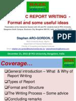Academic report writing