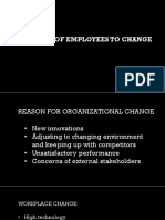 Approach of Employees to Change