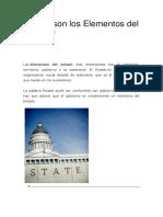 Cuáles Son Los Elementos Del Estado