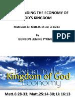 Understanding God's Kingdom Economy-part 1