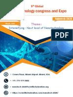 Broacher 2Nanotechnology Congress and Expo-2020