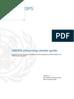 UNOPS ESourcing Vendor Guide v1.0