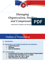 Guidelines on Organization and Compensation