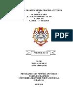 Laporan Praktek Kerja Profesi Apoteker Di Pt. Meprofarm Jl. Soekarno-hatta 789 Bandung 4 April 27 Mei 2016