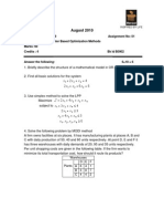 MC0079-Computer Based Optimization Methods (Statistics Applied or)-Fall-10