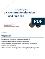 Uniform Acceleration and Free Fall