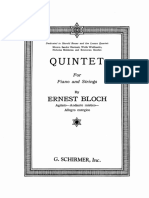 Ernst Bloch - Quintet no. 1 GENERAL SCORE