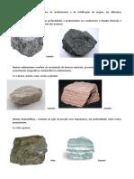 síntese rochas