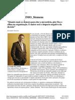 Matéria Época Negócios - Líder ou Chefiota? - Depoimento Adilson Primo da Siemens