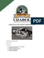 Amenaza de Aborto Prematuroalejandra Vvvvv