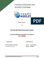 Varanasi Bus Depo Reservation System