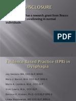 1531 Evidence Based Practice in Dysphagia Logemann