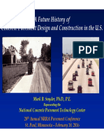 Future history of Concrete pavement