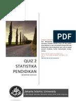 Quiz 2 Statistika Pendidikan FAI_2019