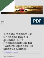 """Transhumanismus_ Britische Royals Gründen Elite-Rechenzentrum Für """"Gehirn-Uploads"""" in Mohave County _ PRAVDA TV – Lebe Die Rebellion"""