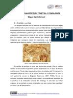 5. La Transcripción Fonética y Fonológica