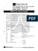 192 IJSO Stage 1 2015 Solution Code JS 532