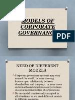 Models of Corporate Governance