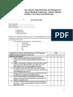 Questionnaire Drrm