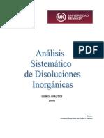 Análisis Sistemático de Disoluciones Inorgánicas - UK 2015
