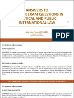 Political Law Exam and quiz 2019