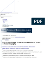 Practical Guidance for the Implementation of Stress Echocardiography
