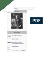 Max Planck Un Hombre de Ciencia