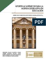 Aportes Académicos Para La Agenda Legislativa en Educación