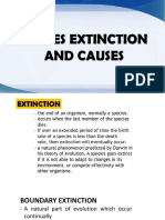 Species Extinction and Its Causes