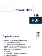 1. Intro to PHP