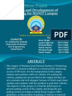 Planning and Design of Parking at MANIT Bhopal (NIT-Bhopal) Campus