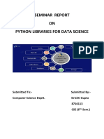 Python Libraries Seminar Report