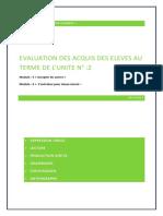 Evaluation Des Acquis Des Élèves Au Terme Des Modules 1 Et 2