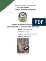 Determinacion de Humedad y Materia Seca de La Salchicha y de Filete n e i