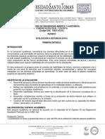 Evaluación DIstancia Primera Entrega 2019-2 Ago 21