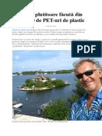 Insula plutitoare făcută din 100.000 de PET-uri de plastic.docx