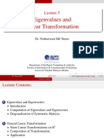 L05 Eigenvalues and Linear Transformation