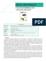 TAFH 2 TISD Test de Interpretacion Selectiva de Datos