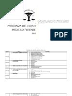 Programa Del Curso de Medicina Forense 2019 - Usac